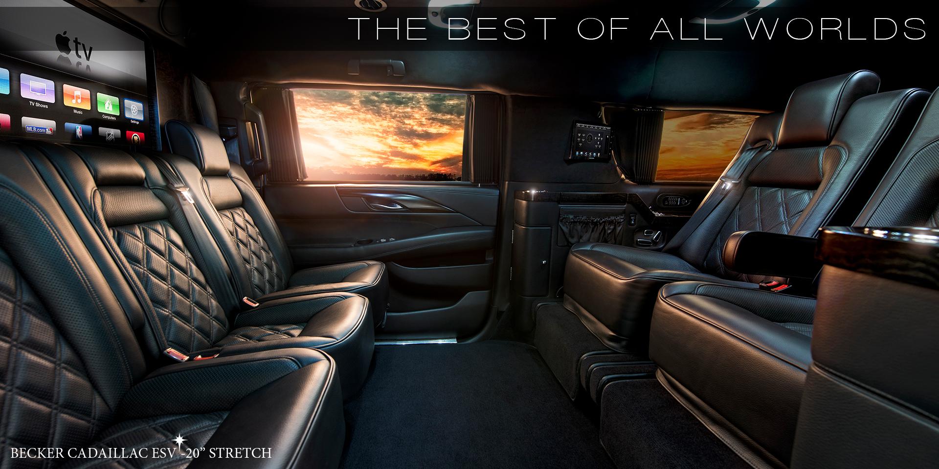 Becker Automotive Design Luxury Transport Coaches Sprinter Van And Cadillac Esv Conversions