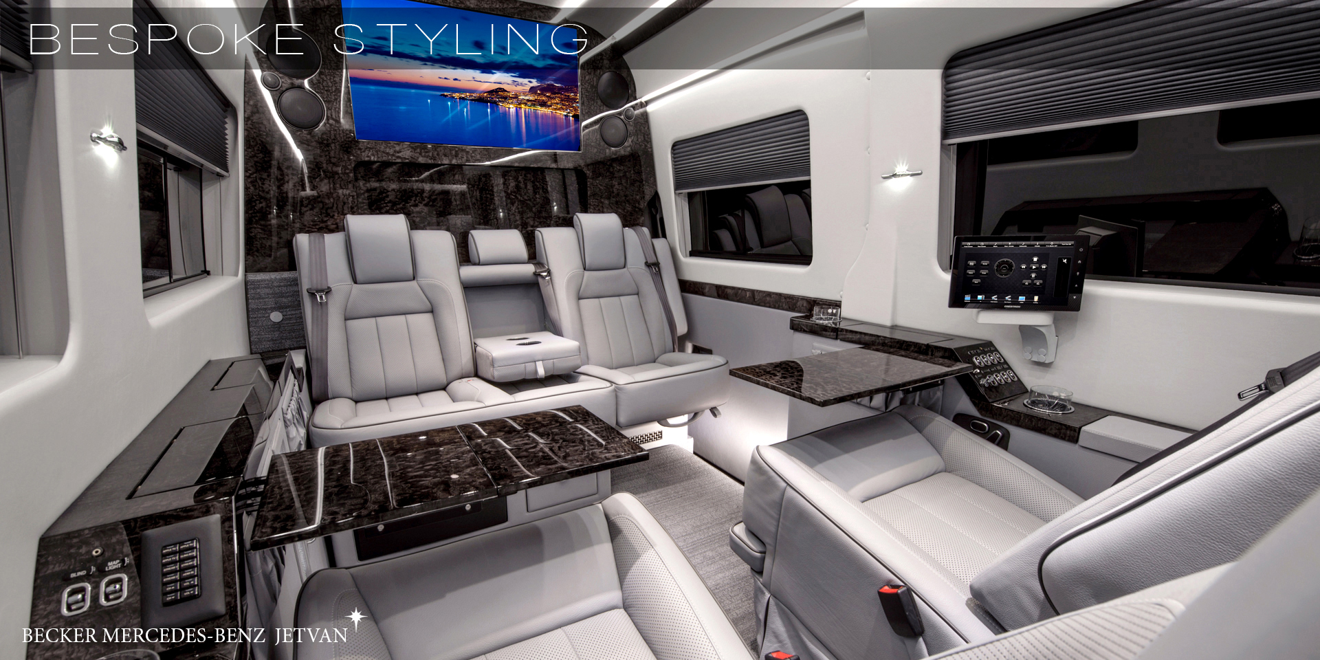 Becker automotive design luxury transport coaches sprinter van and cadillac esv conversions for Cadillac escalade custom interior